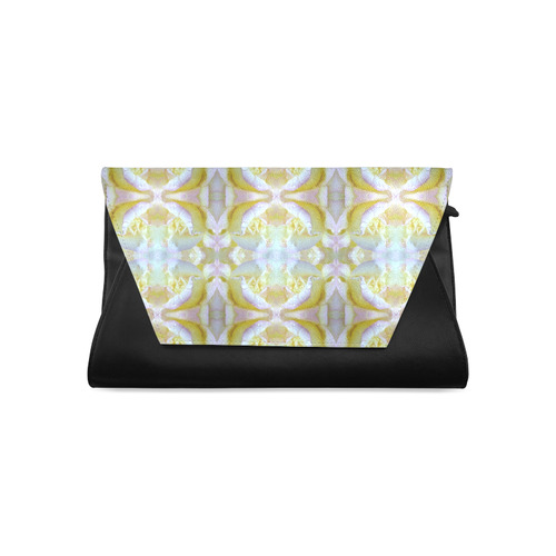 White Yellow  Pattern Clutch Bag (Model 1630)