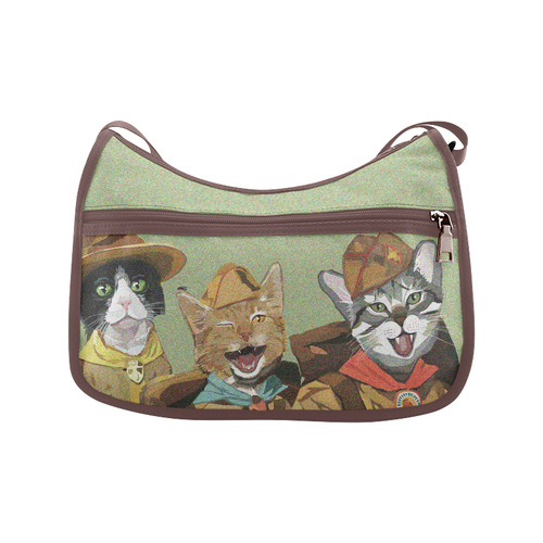 Cat Scouts Crossbody Bag Crossbody Bags (Model 1616)