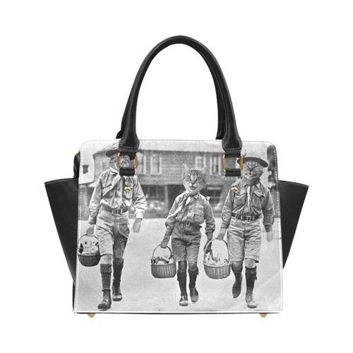 Cat Scouts Vintage Service Project Cats Handbag Classic Shoulder Handbag (Model 1653)