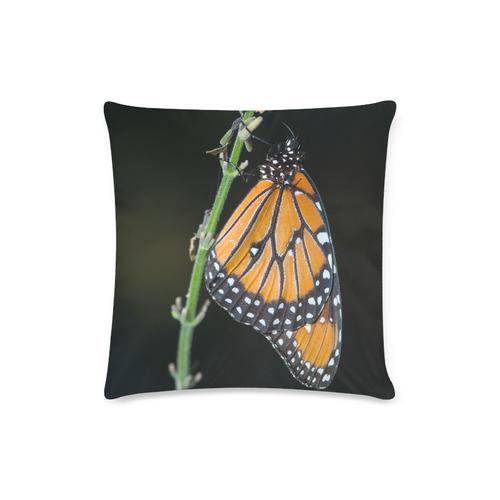 "Monarch Butterfly Custom Zippered Pillow Case 16""x16"" (one side)"