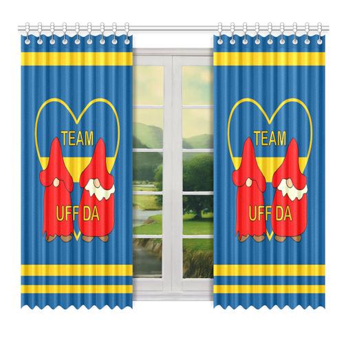 "Team Uff DA Swedish Uff Da Gnomes Tomte Nisser Window Curtain 52"" x 72""(One Piece)"