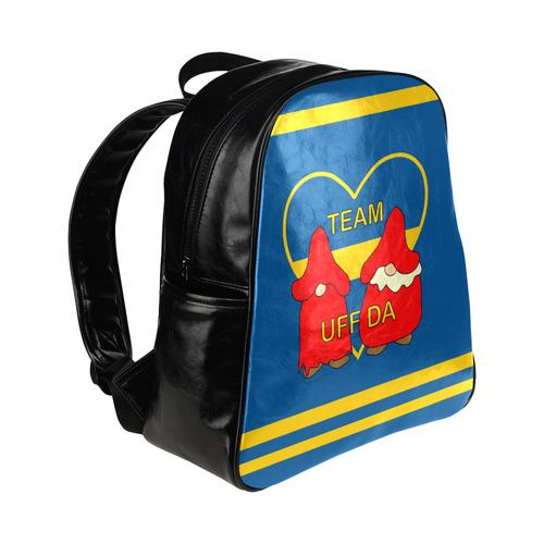 Team Uff Da Swedish Uff Da Gnomes Tomte Nisser Multi-Pockets Backpack (Model 1636)