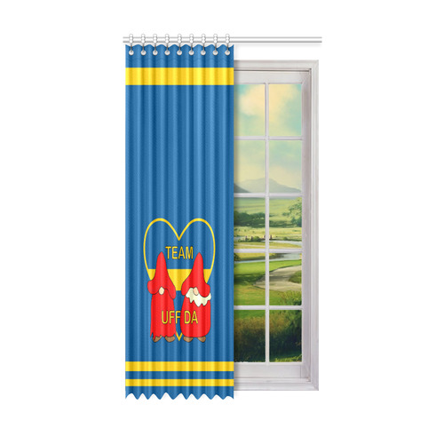 "Team Uff Da Swedish Uff Da Gnomes Tomte Nisser Window Curtain 52"" x96""(One Piece)"