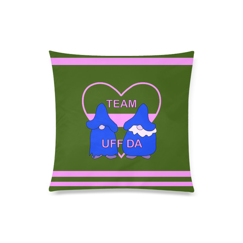 "Team Uff Da Gnomes Tomte Nisser Green Pink Blue Custom Zippered Pillow Case 20""x20""(Twin Sides)"