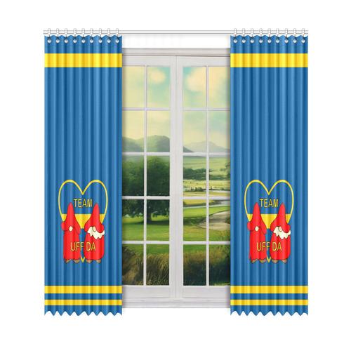 "Team Uff Da Swedish Uff Da Gnomes Tomte Nisser Window Curtain 52"" x 108""(One Piece)"