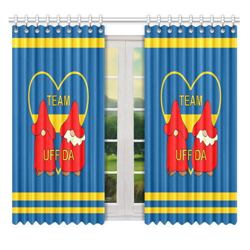"Team Uff Da Swedish Uff Da Gnomes Tomte Nisser Window Curtain 52"" x 63""(One Piece)"