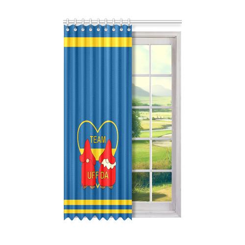 "Team Uff Da Swedish Uff Da Gnomes Tomte Nisser Window Curtain 50"" x 84""(One Piece)"