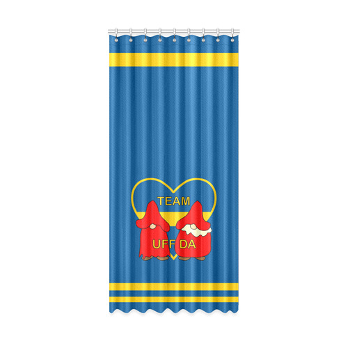 "Team Uff Da Swedish Uff Da Gnomes Tomte Nisser Window Curtain 50"" x 108""(One Piece)"
