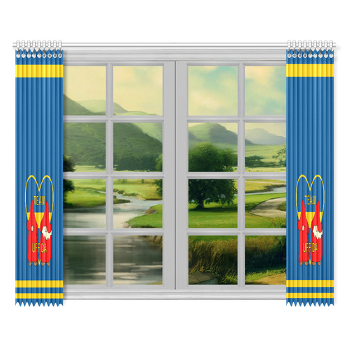 "Team Uff Da Swedish Uff Da Gnomes Tomte Nisser Window Curtain 52""x84""(Two Pieces)"