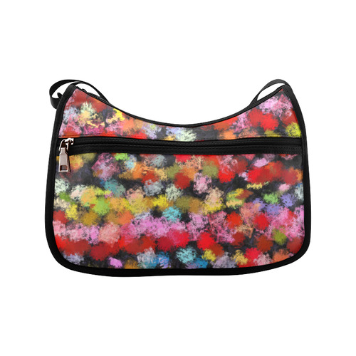 Colorful paint strokes Crossbody Bags (Model 1616)