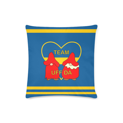 "Team Uff Da Swedish Uff Da Gnomes Tomte Nisser Custom Zippered Pillow Case 16""x16""(Twin Sides)"