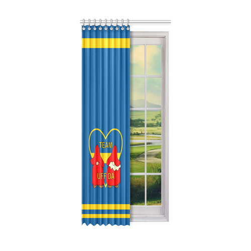 "Team Uff Da Swedish Uff Da Gnomes Tomte Nisser Window Curtain 52"" x 120""(One Piece)"