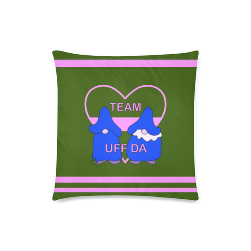 "Team Uff Da Gnomes Tomte Nisser Green Pink Blue Custom Zippered Pillow Case 18""x18""(Twin Sides)"