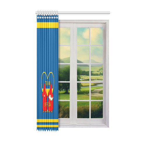 "Team Uff Da Swedish Uff Da Gnomes Tomte Nisser Window Curtain 52"" x 84""(One Piece)"