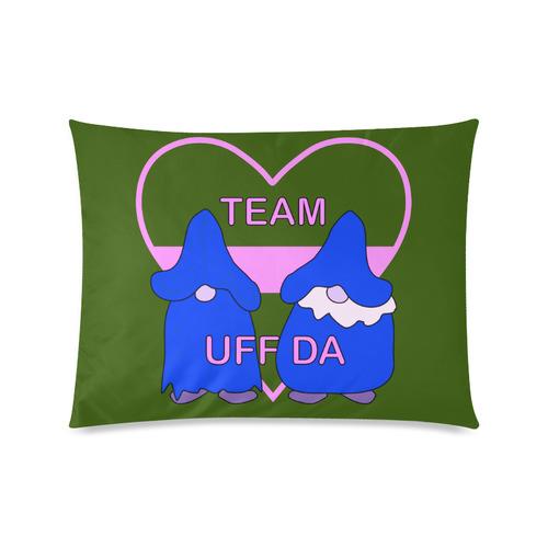 """Team Uff Da Gnomes Tomte Nisser Green Pink Blue Custom Zippered Pillow Cases 20""""x26""""(Twin Sides)"""