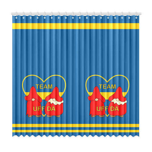 "Team Uff Da Swedish Uff Da Gnomes Tomte Nisser Window Curtain 50""x96""(Two Piece)"