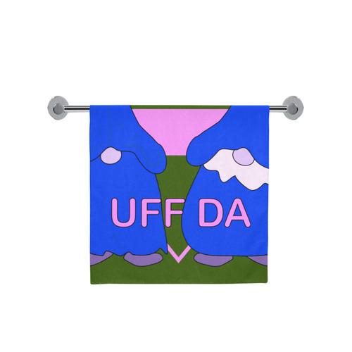 "Wet Uff Da Gnomes Tomte Nisser Pink Green Blue Bath Towel 30""x56"""