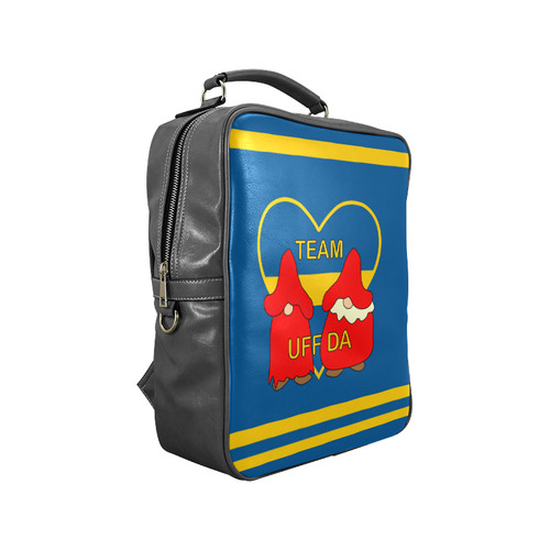 Team Uff Da Swedish Uff Da Gnomes Tomte Nisser Square Backpack (Model 1618)