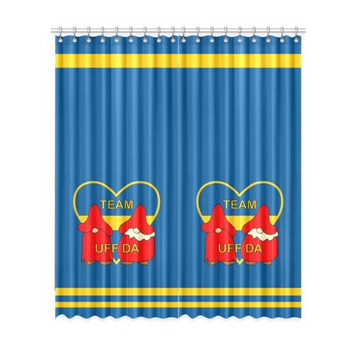 "Team Uff Da Swedish Uff Da Gnomes Tomte Nisser 2 Window Curtain 52""x120""(Two Piece)"