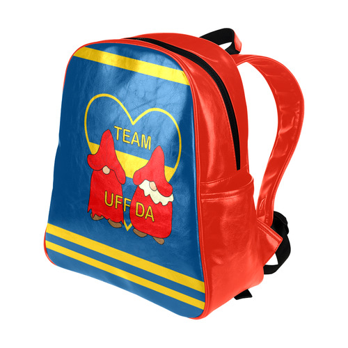 Team Uff Da Swedish Uff Da Gnomes Tomte Nisser Multi-Pockets Backpack (Model 1636)