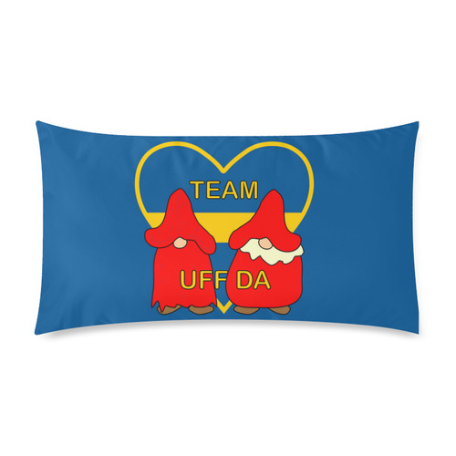"Team Uff Da Swedish Uff Da Gnomes Tomte Nisser Rectangle Pillow Case 20""x36""(Twin Sides)"