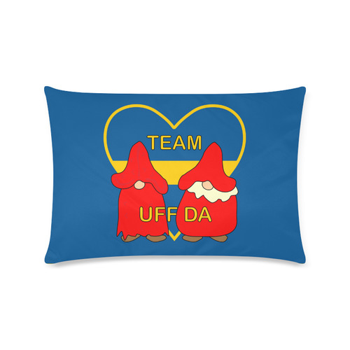 "Team Uff Da Swedish Uff Da Gnomes Tomte Nisser Custom Zippered Pillow Cases 16""x24""(Twin Sides)"