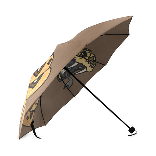 Cool Artistic Rattlesnake Foldable Umbrella (Model U01)