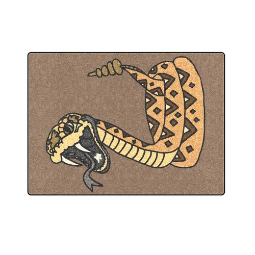 """Striking Rattlesnake Art Blanket 58""""x80"""""""