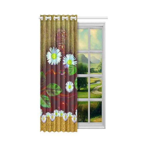 "Peace bat in the dark New Window Curtain 52"" x 84""(One Piece)"