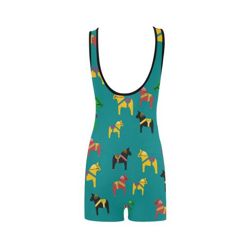 Dala Horse Cute and Colorful Classic One Piece Swimwear (Model S03)