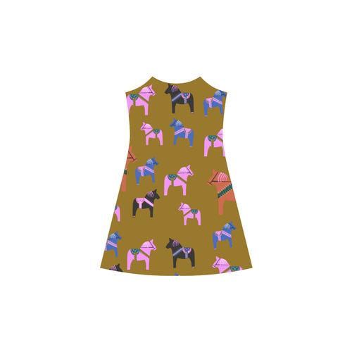 Dala Horses Cute and Decorative Folk Art Style Alcestis Slip Dress (Model D05)