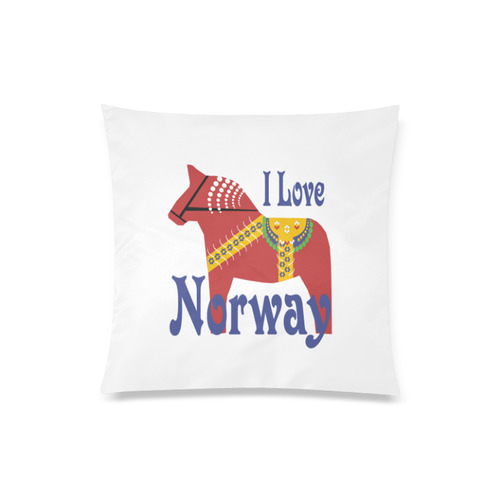 """Dalahorse I Love Norway Custom Zippered Pillow Case 20""""x20""""(Twin Sides)"""