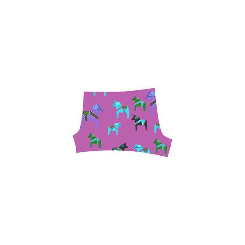 Dala Horses Cute and Decorative Folk Art Style Briseis Skinny Shorts (Model L04)