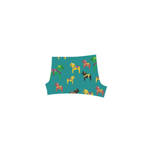 Dala Horses Cute and Decorative Folk Art Style Briseis Skinny Shorts (Model L04)