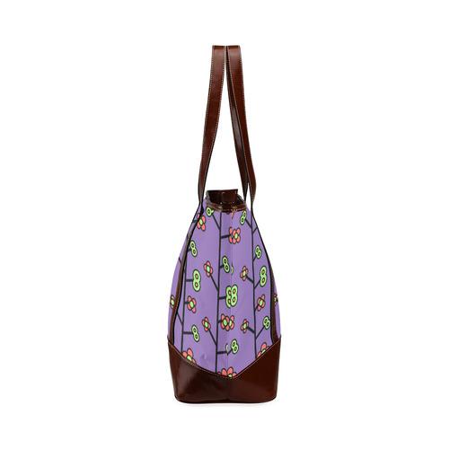 Geometric Flowers Tote Handbag (Model 1642)