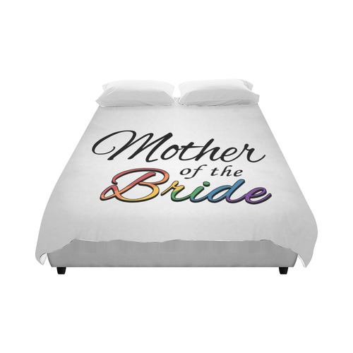 """Rainbow """"Mother of the Bride"""" Duvet Cover 86""""x70"""" ( All-over-print)"""