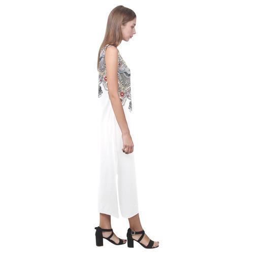jewels crown Phaedra Sleeveless Open Fork Long Dress (Model D08)