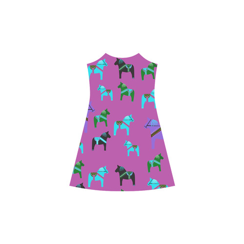 Dala Horses Cute and Decorative Folk Art Style Alcestis Slip Dress (Model D05)