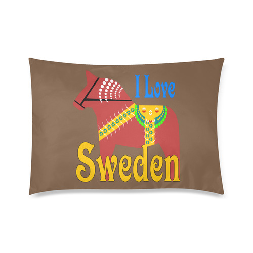 "Dala horse I Love Sweden Custom Zippered Pillow Cases 20""x30""(Twin Sides)"