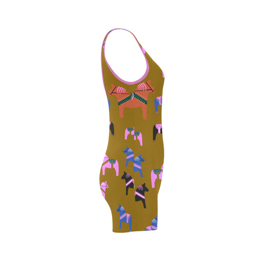 Dala Horse Cute and Colorful Classic One Piece Swimwear (Model S03)