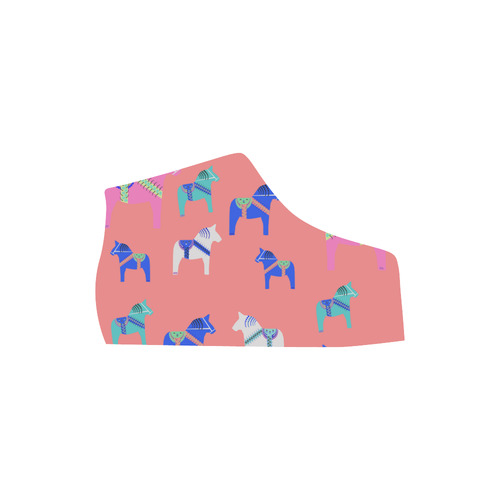 Dala Horse Cute and Decorative Folk Art Style Lyra Round Toe Women's Shoes (Model 310)