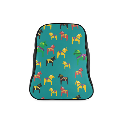 Dala Horses Decorative and Cute School Backpack/Large (Model 1601)
