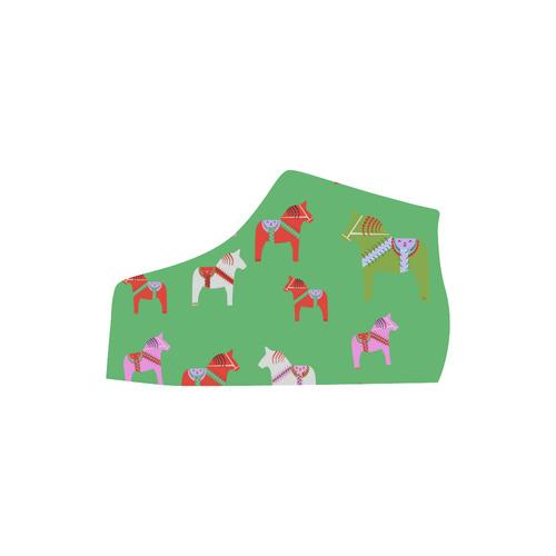 Dala Horse Cute and Decorative Folk Art Style Christmas Edition Lyra Round Toe Women's Shoes (Model 310)