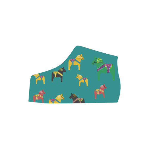 Dala Horse Cute and Decorative Folk Art Style Lyra Round Toe Women's Shoes (Model 310)