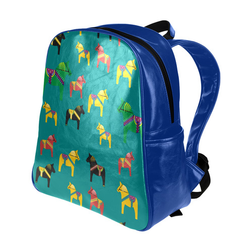 Dala Horses Decorative and Cute Multi-Pockets Backpack (Model 1636)