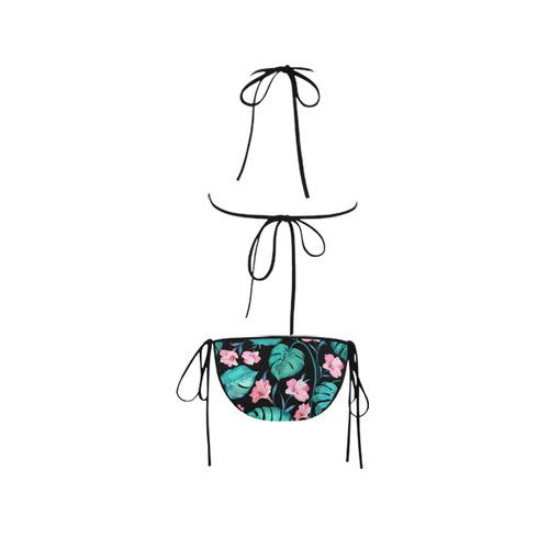 Watercolor Tropical Floral Leaf Nature Pattern Custom Bikini Swimsuit