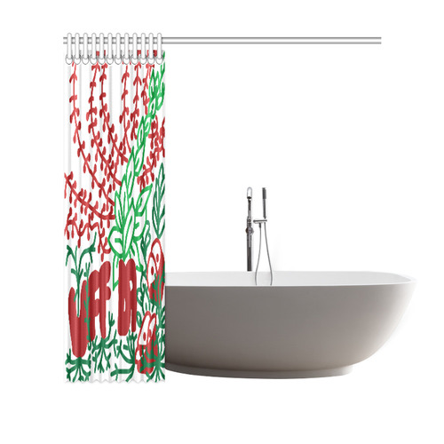 "Uff Da Tangle Garden Shower Curtain 69""x70"""