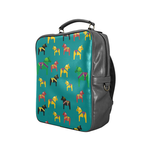 Dala Horses Decorative and Cute Square Backpack (Model 1618)