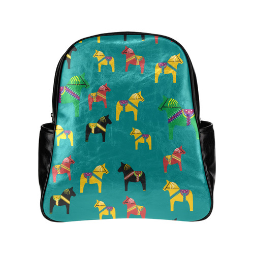 Dala Horses Decorative and Cute Multi-Pockets Backpack (Model 1636)