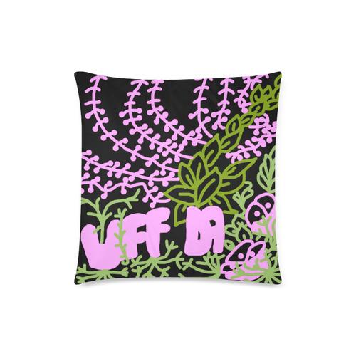 """Uff Da Tangle Garden Black Pink Green Custom Zippered Pillow Case 18""""x18""""(Twin Sides)"""